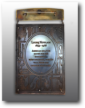 Louise Nevelson (back)